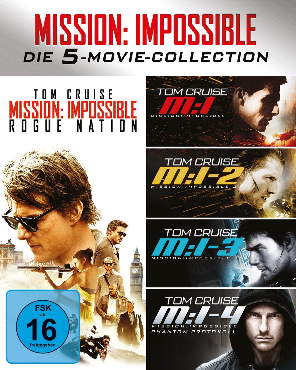 Mission: Impossible - The 5 Movie Collection, 5 Blu-ray: Amazon.co.uk: DVD & Blu-ray