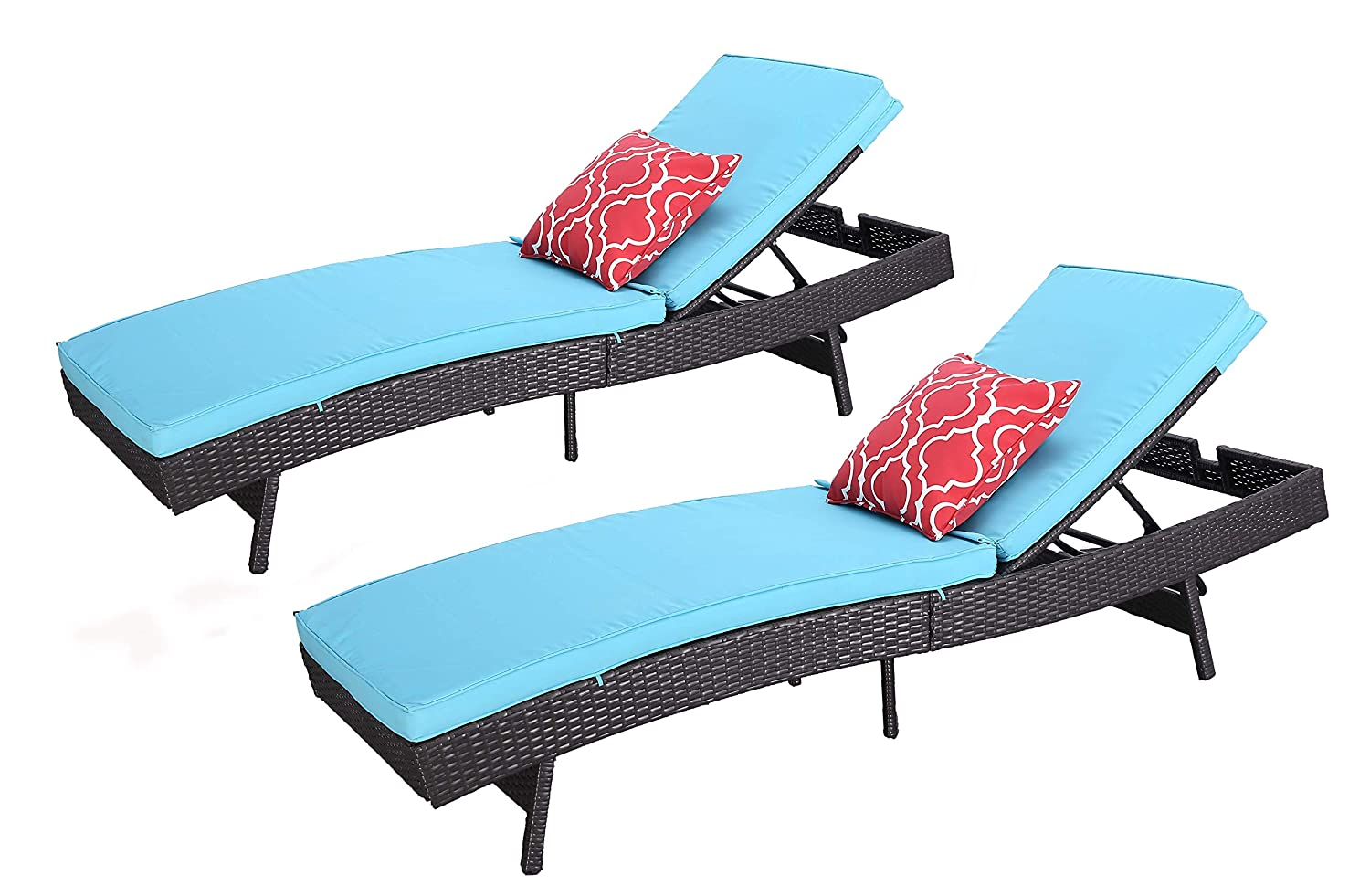2 Comfy Wicker Assemble Chaise But Outdoor LoungeEasy Pices Cushion Htth Lounge Durable LongueThickamp; ChairsLightweight To XTOkZuwPi