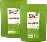 RealFoodSource Saver Pack Certified Organic Coconut & Blanched Ground Almond Flour 2KG (2x1kg)