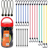 """Cartman Bungee Cords Assortment Jar 24 Piece in Jar - Includes 10"""", 18"""", 24"""", 32"""", 40"""" Bungee Cord and 8"""" Canopy/Tarp…"""