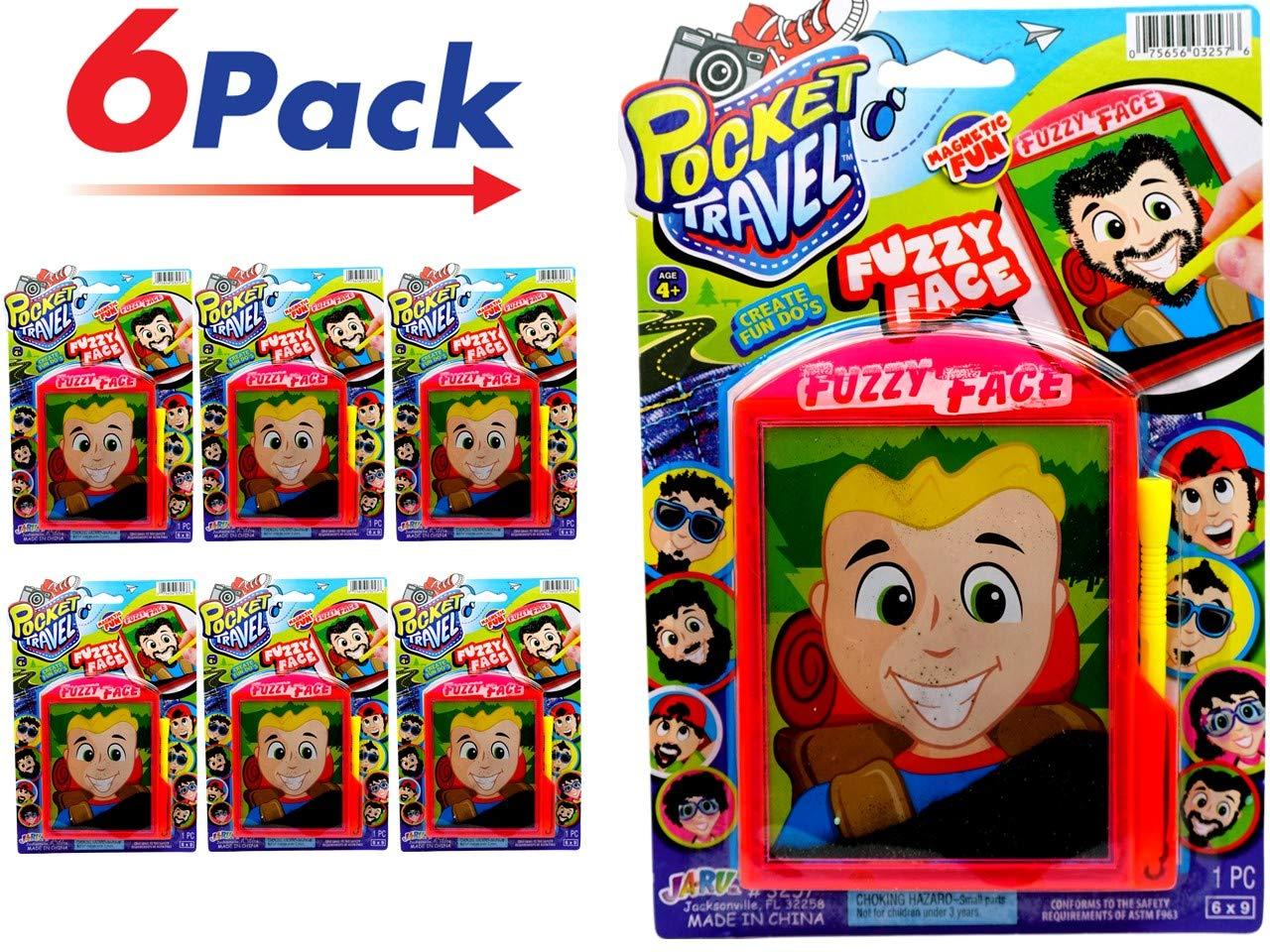 ポケット旅行Fuzzy面Game by ja-ru |磁気おもちゃSpark Your創造性by図面Facial Hairに異なる面6個パック| Item # 3257   B07BJYM91Q