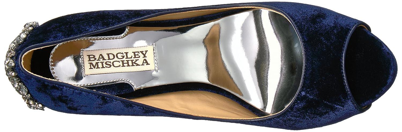 Badgley Mischka Women's Kiara Dress Pump B01N3CD5HA 7.5 B(M) US|Navy Velvet