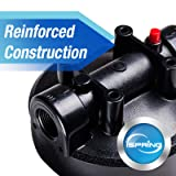 iSPRING HB28B 20-Inch Big Blue Water Filter Housing 1-Inch Outlet/Inlet Heavy Duty