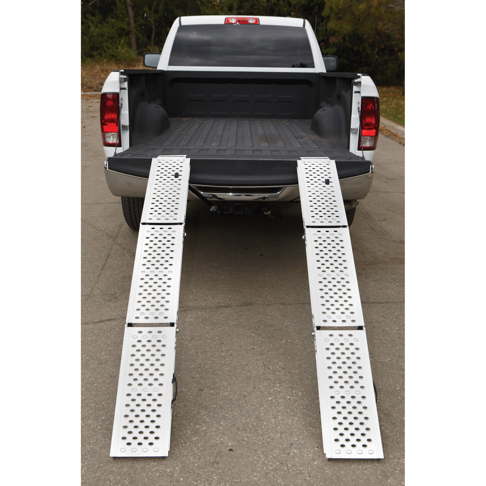 Ultra-Tow Folding Arched Aluminum Ramps - Pair, 76in.L, 1,000-Lb. Total Load Capacity by Ultra-Tow