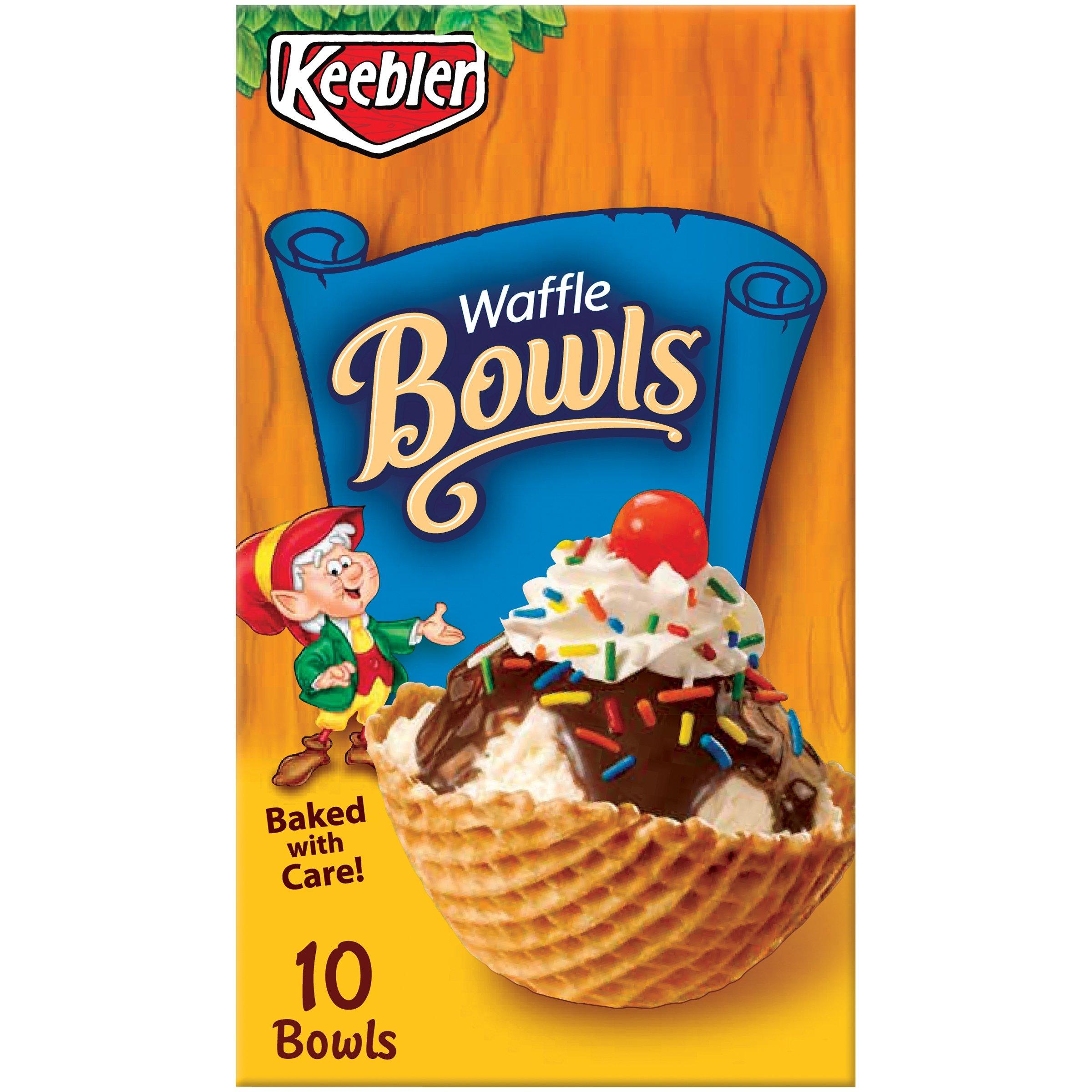 Keebler Cones, Ice Cream Waffle Bowls, 4 oz (10 Count) by Keebler Cones (Image #1)