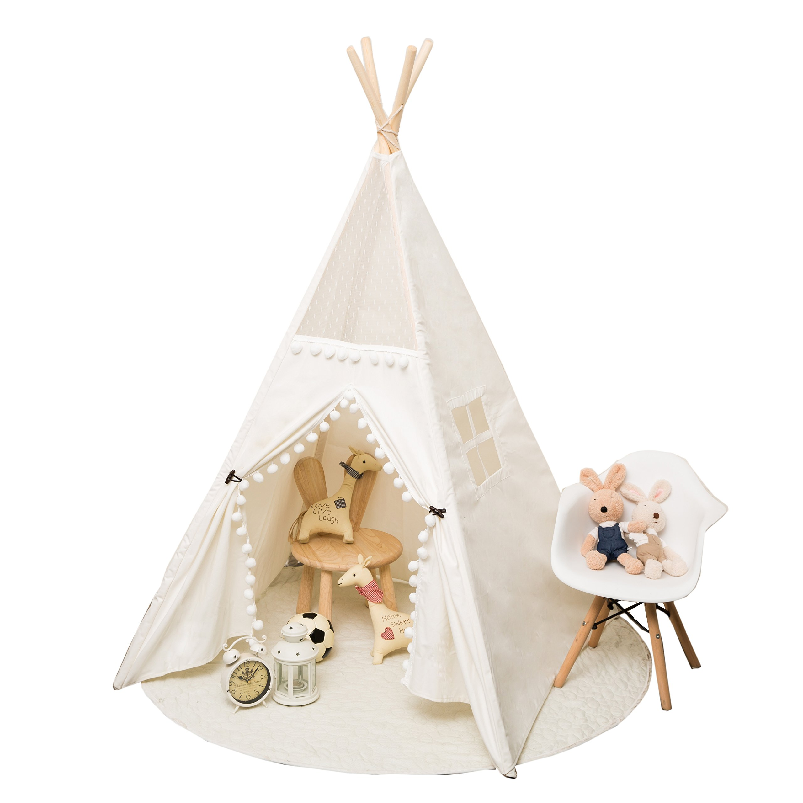 RONG FA Top Lace Style Children Playhouse Indian Teepee Tent Kids Play Room