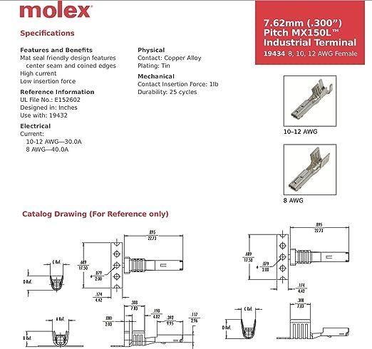 amazon com molex mx150l sealed 2 pin wire connector male and female rh amazon com