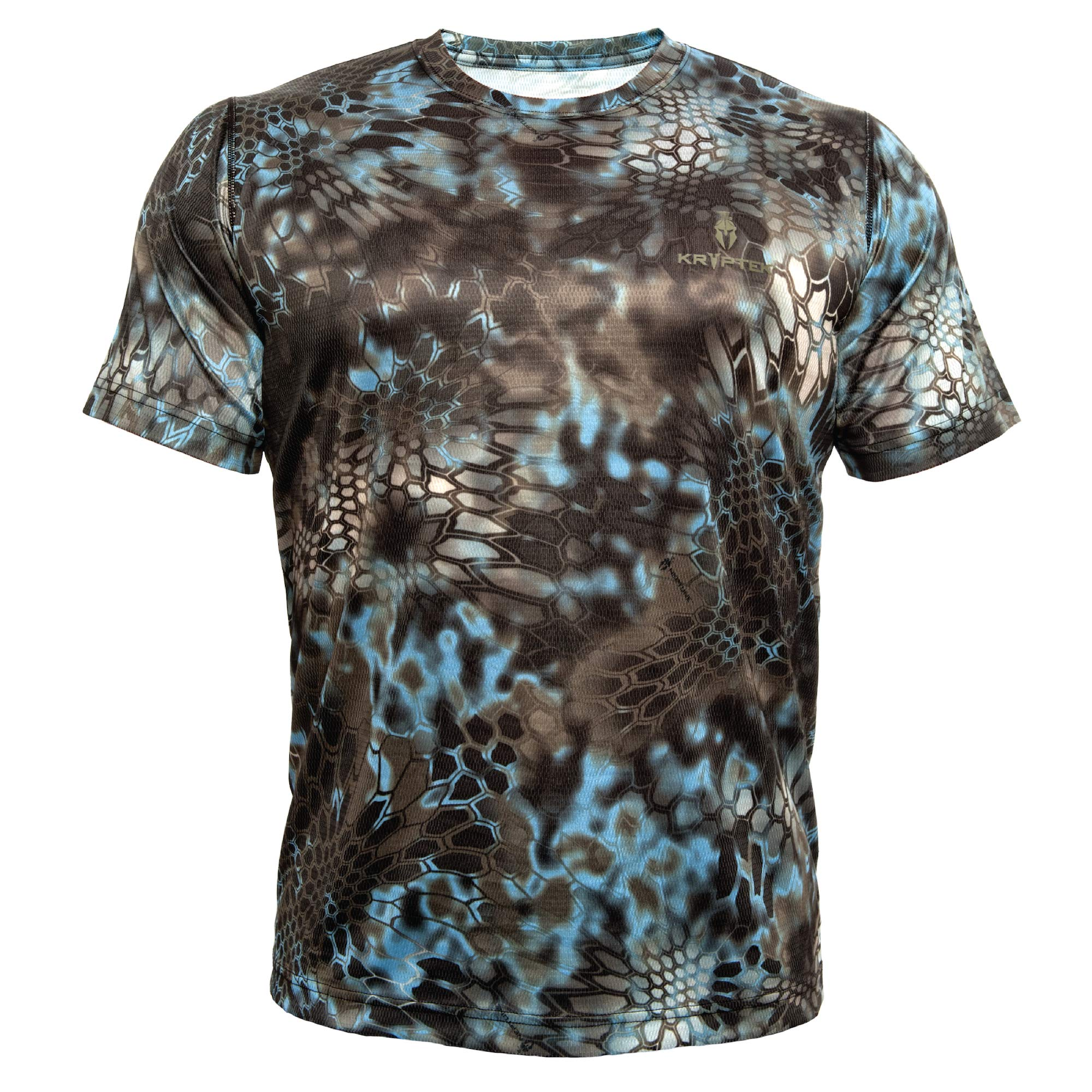 Kryptek Hyperion SS Crew - Short Sleeve Camo Hunting & Fishing Shirt (K-Ore Collection), Neptune, XS by Kryptek