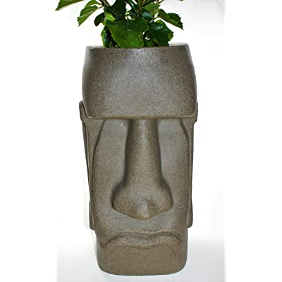 Easter Island (Rapa NUI Moai) Planter (Brazilian) : Garden & Outdoor