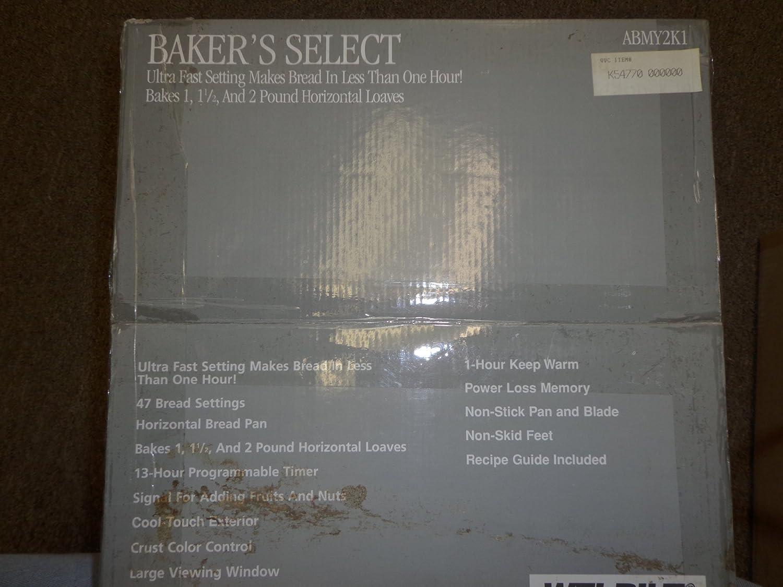 Amazon.com: Baker s Select welbilt abmy2 K1 Panificadora ...