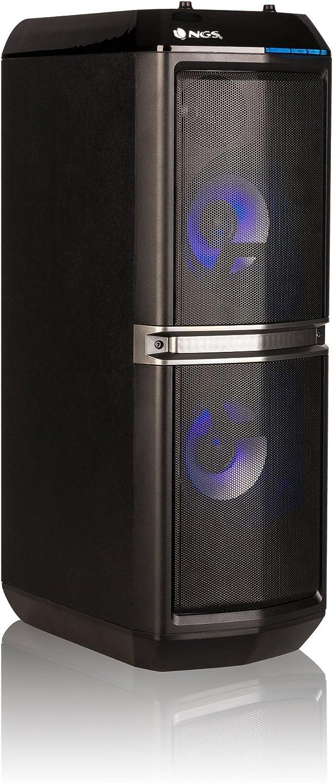 NGS SkyHome, Altavoces (2.0 Canales, Inalámbrico y Alámbrico, 3.5Mm/USB/Bluetooth, 200 W), Inalámbrico y alámbrico, Talla única, Negro