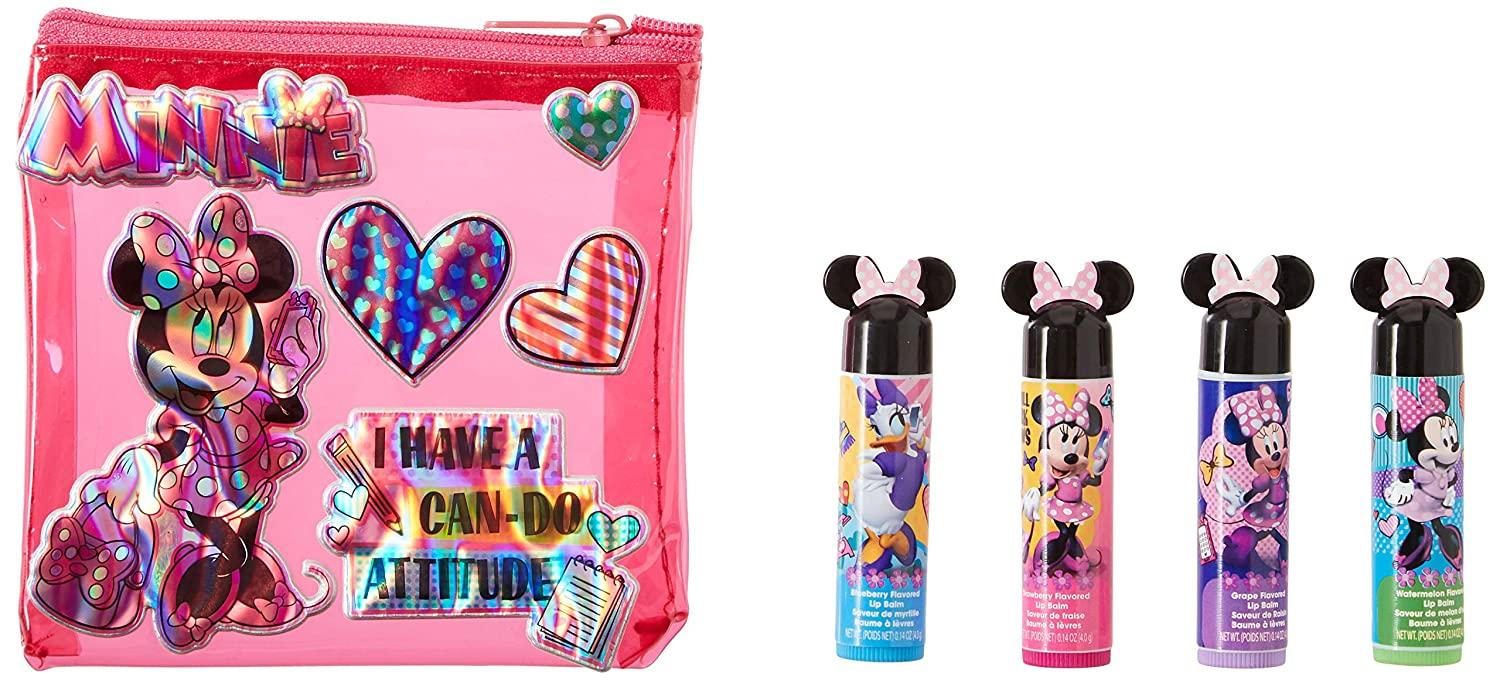 Amazon Com Townley Girl Minnie Mouse Sparkly Lip Balm For Girls 4
