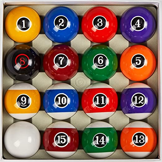 """Collapsar Deluxe 2-1/4"""" Billiard Pool Balls - Great For Casual Players"""