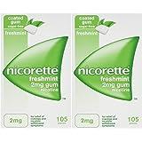 Nicorette 2mg Gum Nicotine 210 Pieces - FreshMint Flavour (11/2018) Sugar Free