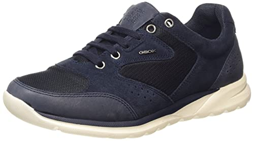 Mens U Damian C Low-Top Sneakers, Blue Geox