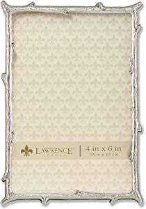 Lawrence Frames 4x6 Silver Metal Natural Branch Design Picture Frame