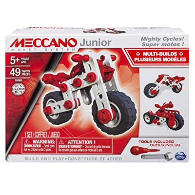 Meccano-Erector Junior, 3 Model Building Kit, Mighty Cycles: Toys & Games