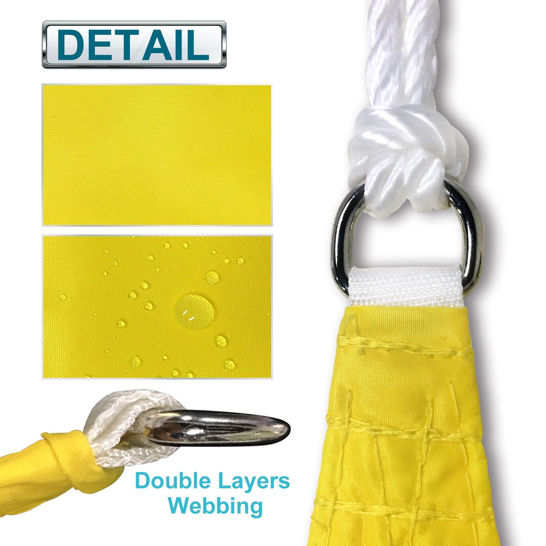 Coarbor Waterproof 5x5 Sun Shade Sail Canopy Customized Square Polyester for Pergola Carport Awning Patio Yard UV Block Make to Order-Beige