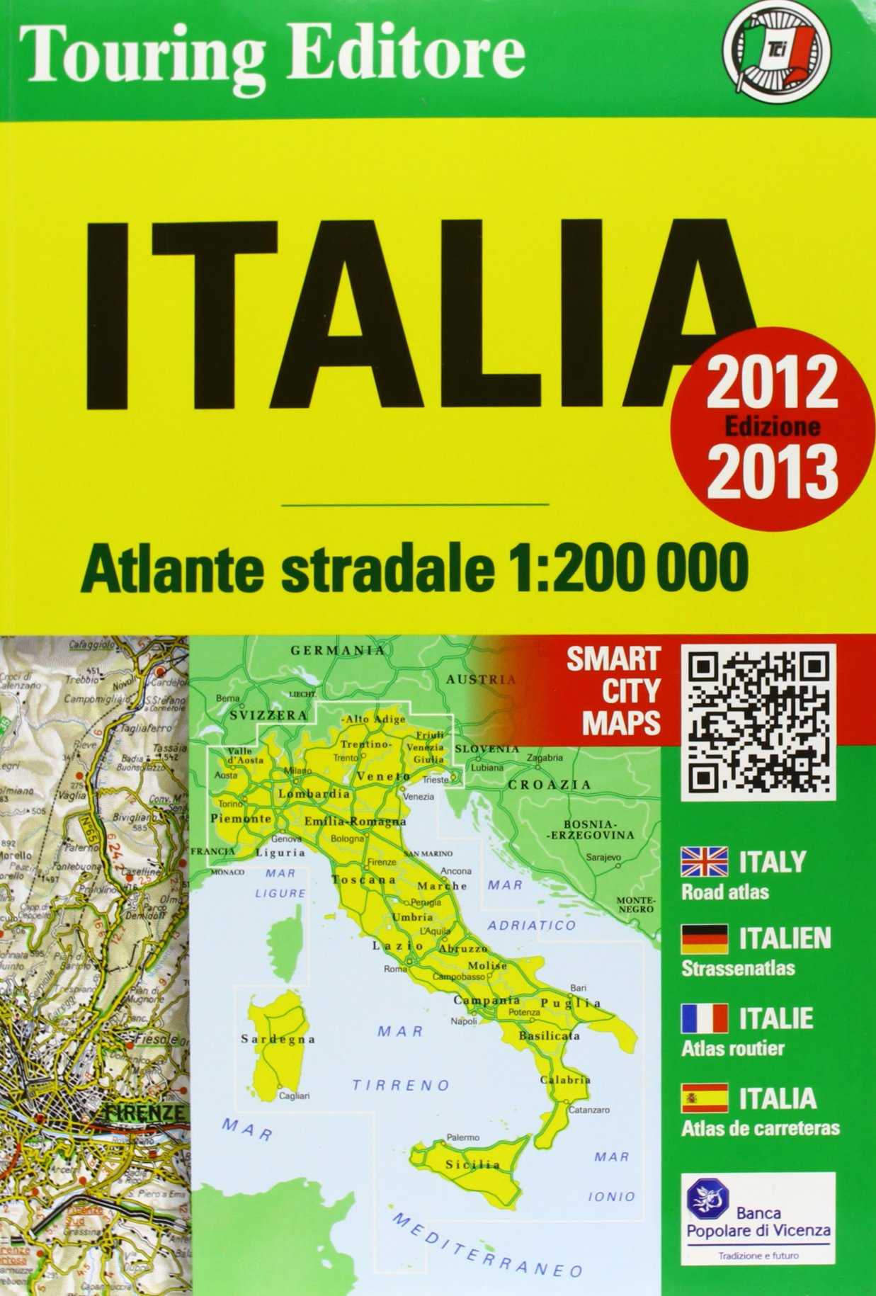 Atlante stradale Italia 1:200.000 2012-2013