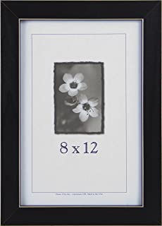 product image for Frame USA Clean Cut Series 8x12 Wood Picture Frames (Black)   Choose Size and Color