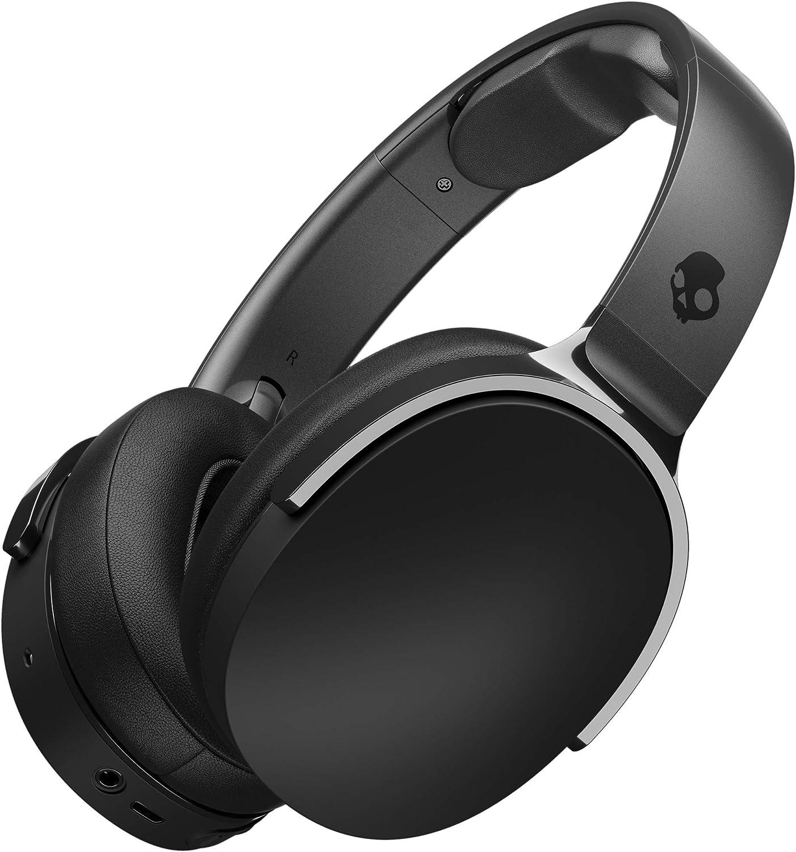 Skullcandy Hesh 3 Over-Ear Bluetooth, Auriculares Inalámbricos, con Micrófono y Batería de Carga Rápida con 22h de Duración, Almohadillas de Espuma Viscoelástica para Más Confort, Negro