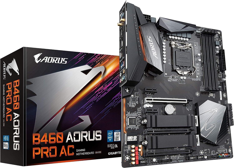 Gigabyte B460 AORUS PRO AC (LGA1200/Intel/B460/ATX/Dual M.2/SATA 6Gb/s/USB 3.2 Gen 2/Intel 802.11ac/2.5 GbE LAN/DDR4/Motherboard)