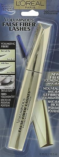3cf092effb3 Amazon.com : L'Oreal Paris Voluminous False Fiber Lashes Waterproof Mascara,  285 Blackest Black, 0.35 Fl Oz : Loreal Mascara Waterproof : Beauty