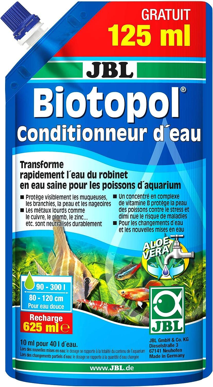 JBL Rellenador Biotopol para el Tratamiento del Agua del Acuario, 500 ml + 125 ml