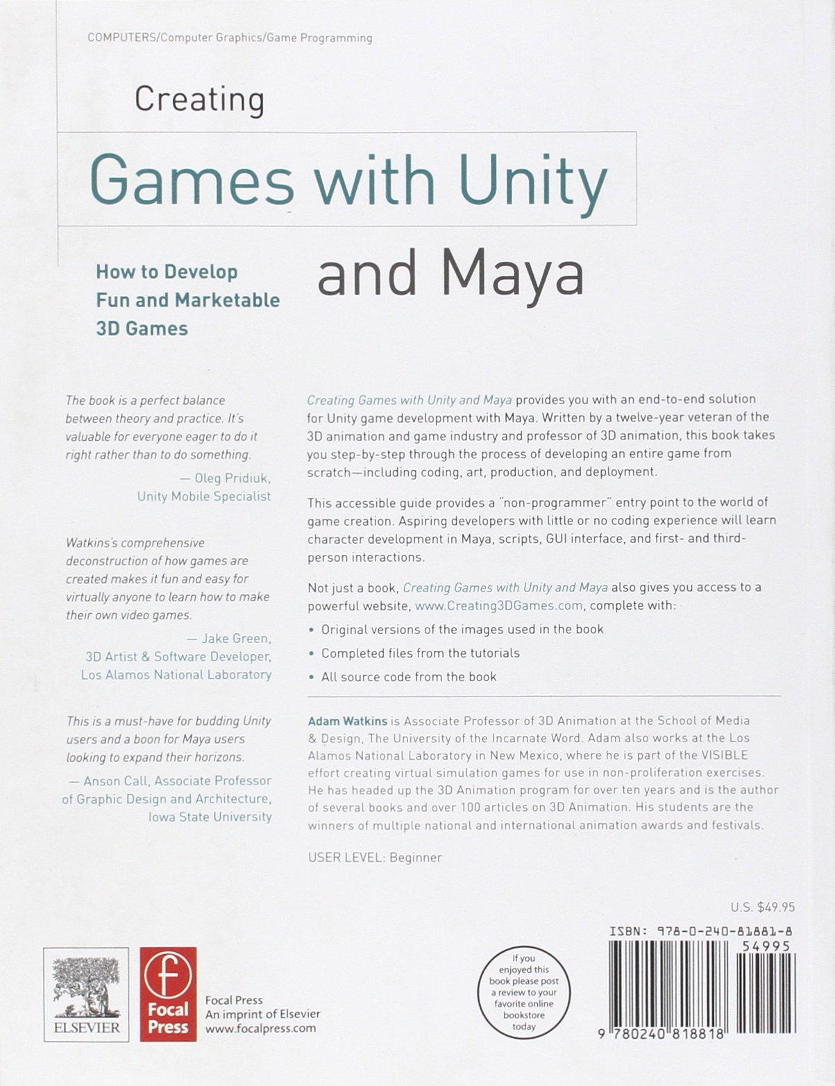 Creating Games With Unity And Maya Pdf