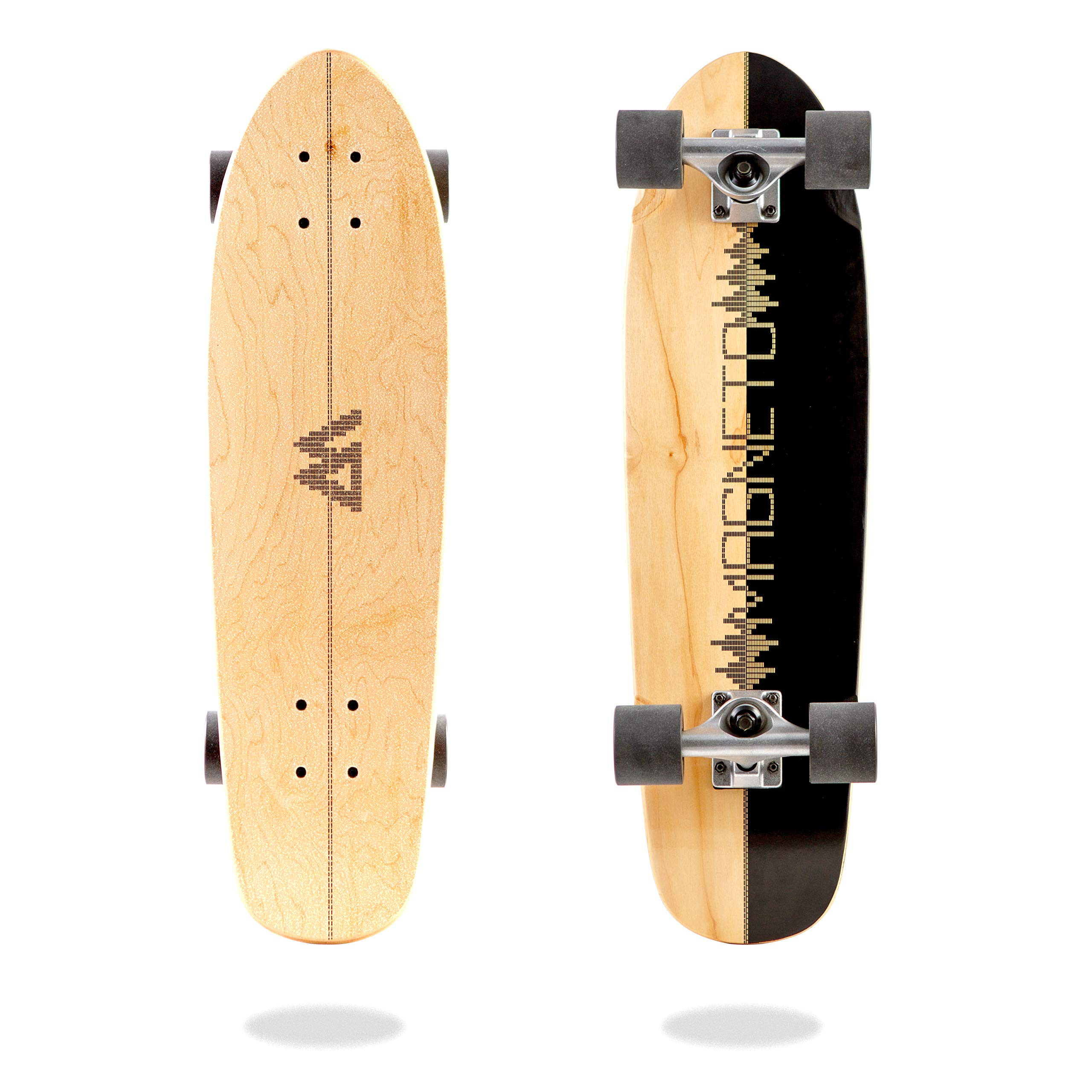 Magneto Mini Cruiser Skateboard Cruiser   Short Board   Canadian Maple Deck - Designed for Kids, Teens and Adults … (Music)