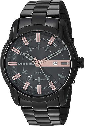 Amazon.com: Diesel - Reloj de cuarzo para hombre, acero ...