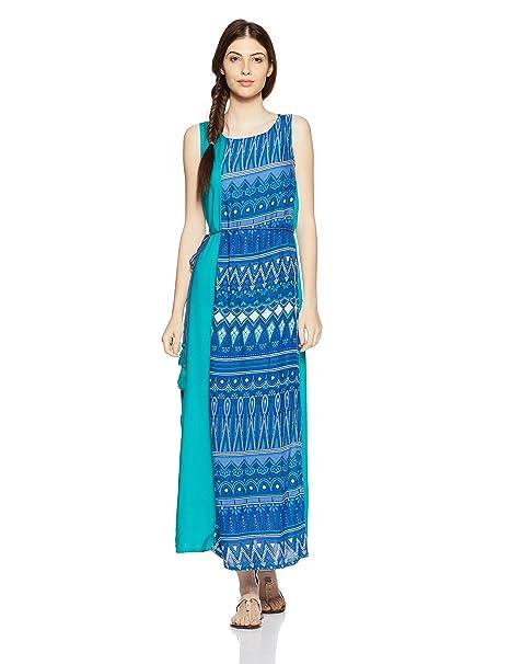 ab6898d685a Akkriti By Pantaloons Women s A-Line Kurta (110041918001 Blue X-Small)