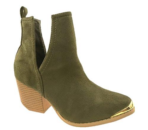 Generic - Botas de Vaquero de Sintético Mujer: Amazon.es: Zapatos y complementos