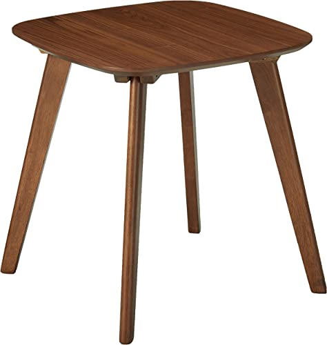 Baxton Studio Dahlia Mid-Century Modern Walnut Wood End Table
