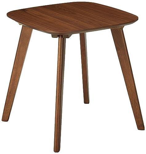 Baxton Studio Mid-Century End Table in Walnut Finish