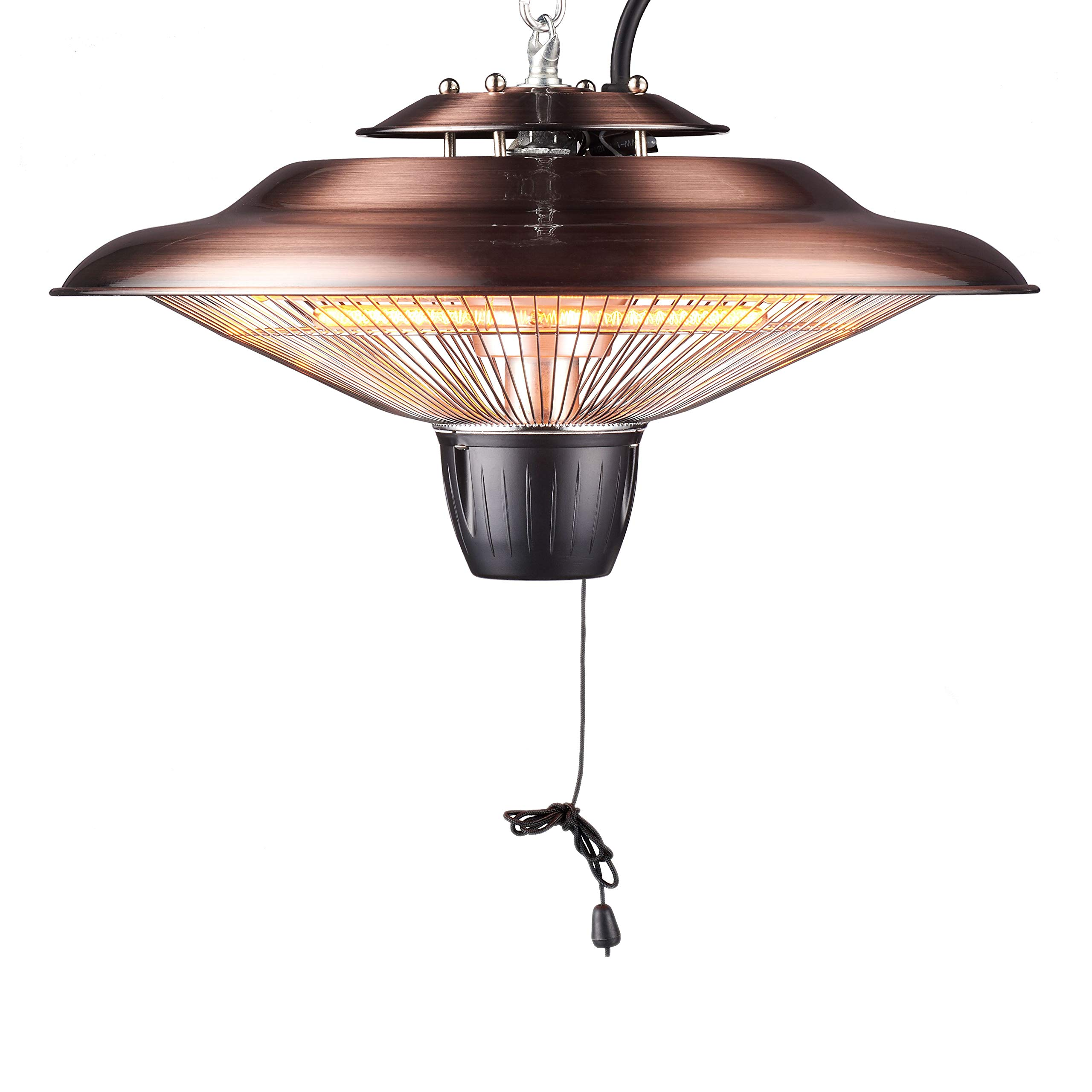 DONYER POWER 1500W Outdoor/Indoor Electric Patio Heater, Ceiling Mounted, Iron (HCH502, Coppering) by DONYER POWER