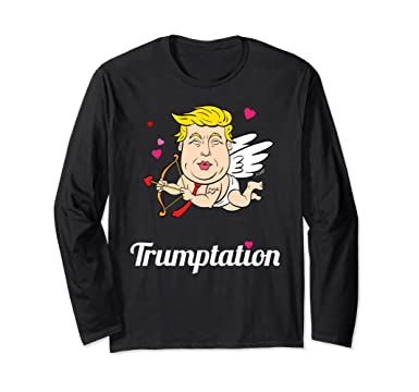 Amazon Com President Trump Valentines Day Meme Cupid Shirt Long