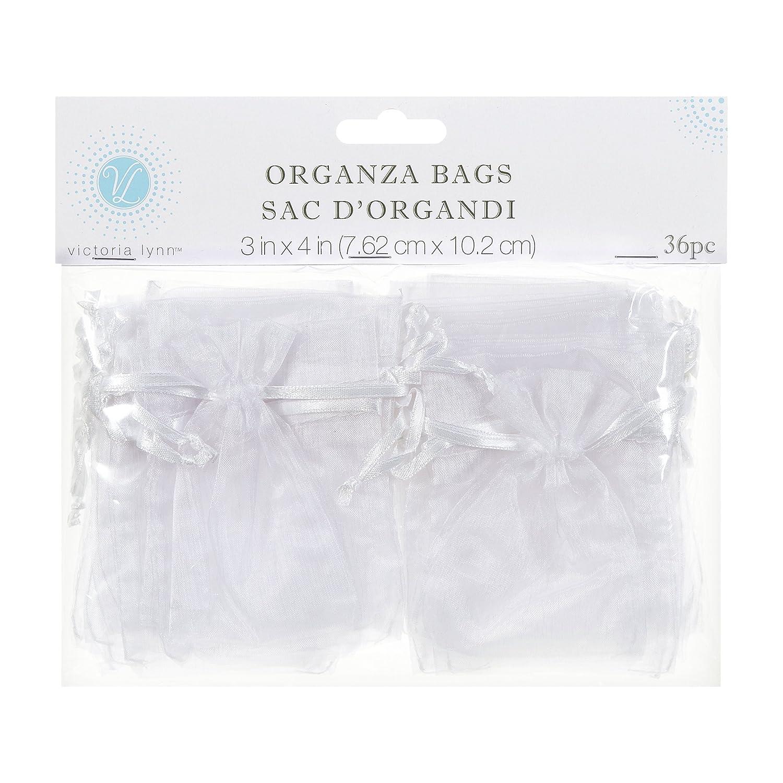 Darice 1405-40, Organza Bag, 36-Piece, 3-Inch-by-4-Inch, White