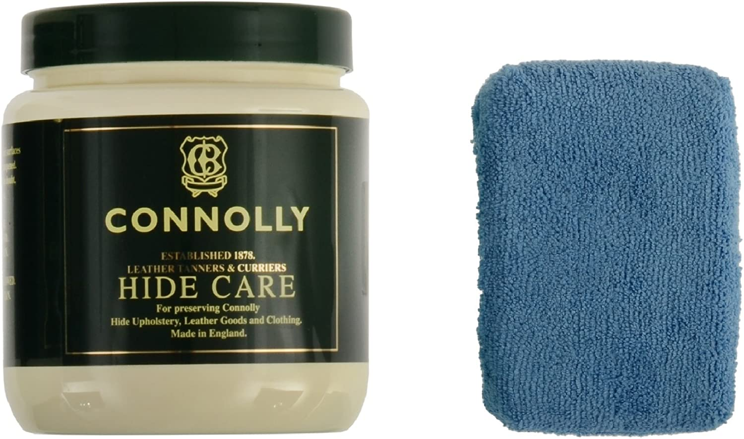 Connolly Hide Care Leather Conditioner & Restorer with Microfiber Applicator Sponge