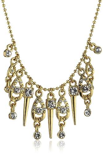 Pilgrim Jewelry Damen Halskette Messing Kristall Anna vergoldet 38.0 cm weiß 171342011