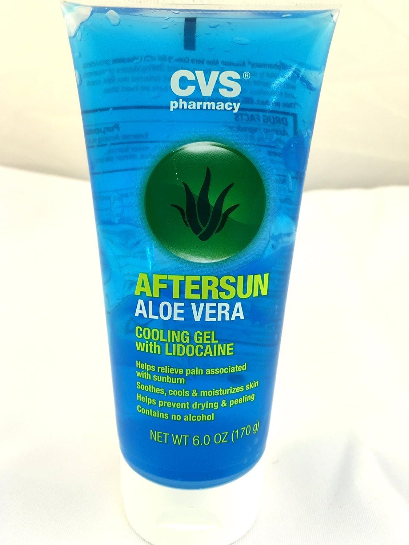 amazon com cvs aftersun aloe vera cooling gel with lidocaine