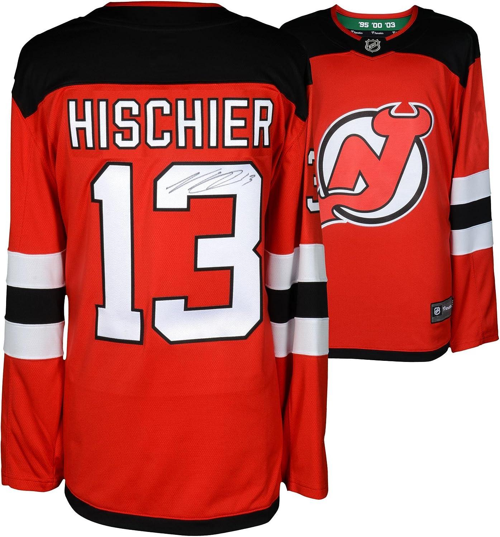 Nico Hischier New Jersey Devils Autographed Red Fanatics Breakaway Jersey - Fanatics Authentic Certified