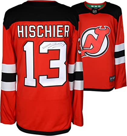 Image Unavailable. Image not available for. Color  Nico Hischier New Jersey  Devils Autographed Red ... 7cea924ec