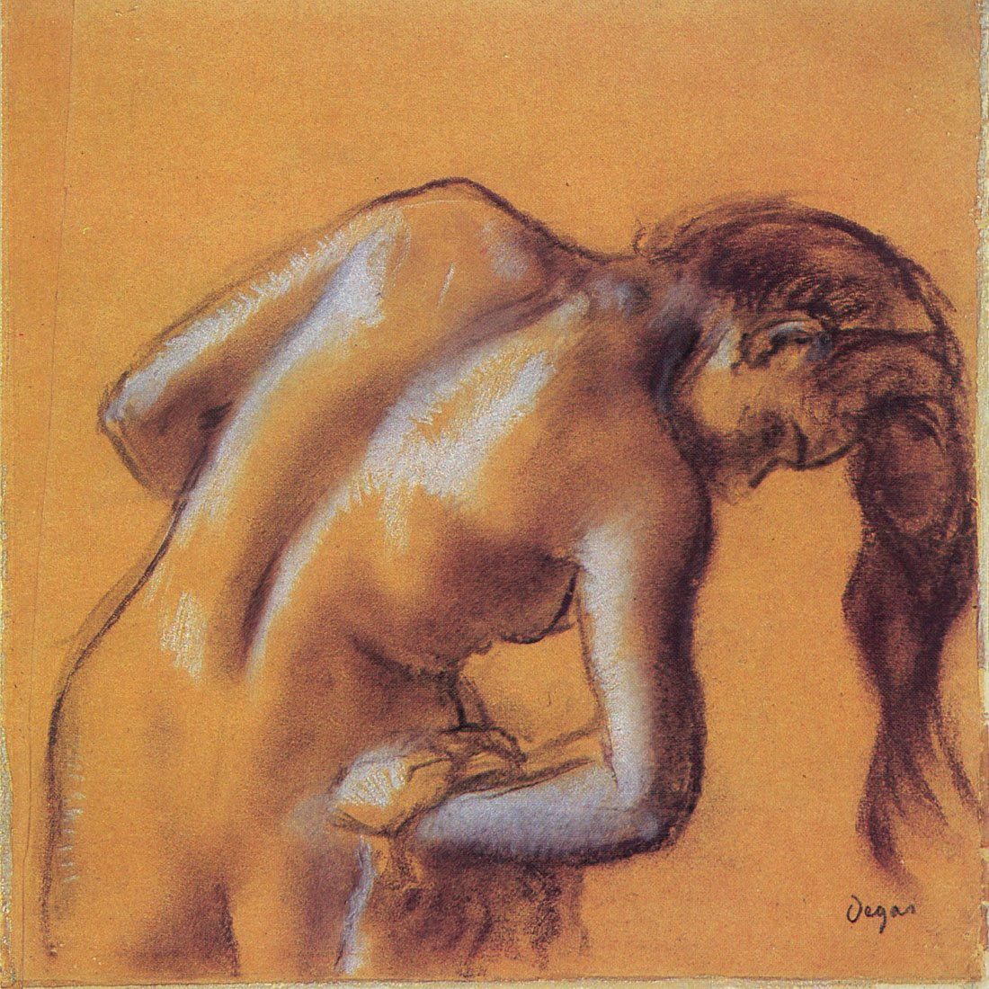 Bather drying herself , Degas – キャンバスまたは壁アートプリント Fine Paper - 20 x 20 Fine Paper - 20 x 20  B008GWOV6S