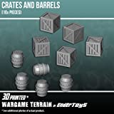 Crates and Barrels Terrain Scenery for Tabletop 28mm Miniatures Wargame 3D Printed and Paintable EnderToys