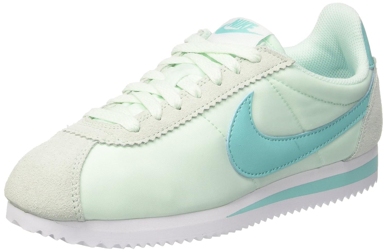 Nike Classic Cortez, Zapatillas de Gimnasia para Mujer 40.5 EU|Turquesa (Igloo/Aurora Green/White)