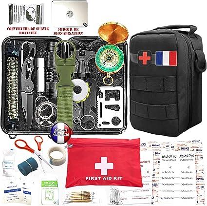 Kit de Survie Voyage Camping D/'urgence Équipement Trousse Boite étanche
