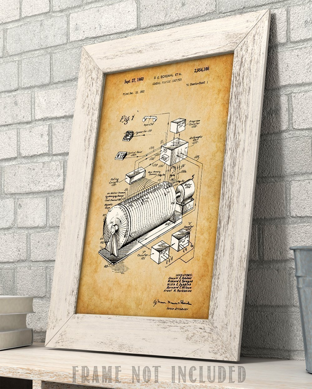 Eckdahl Computer 1960 Patent - 11x14 Unframed Patent Print - Great Gift for IT Professionals, Programmers and Geeks by Personalized Signs by Lone Star Art (Image #4)
