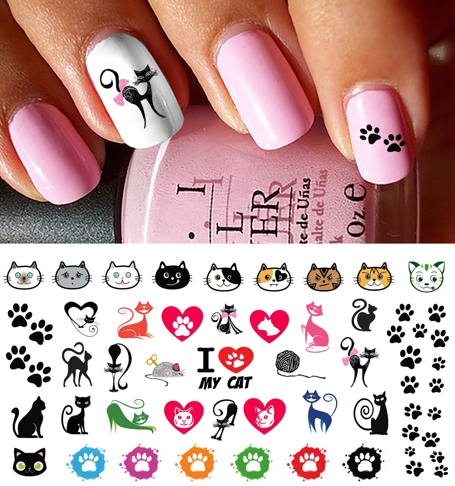 Amazon Paw Prints Water Slide Nail Art Decals Salon Quality
