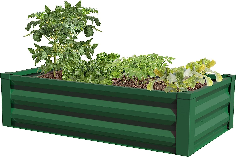 "Greenes Fence Powder-Coated Metal Raised Garden Bed Planter 24"" W x 48"" L"